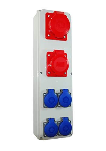 Baustromverteiler/Wandverteiler 4 x 230V/16A & 1 x CEE 16A & 1 x CEE 32A verdrahtet