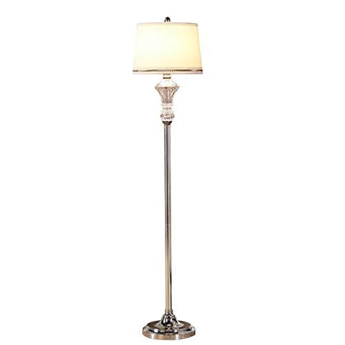 Lámpara de Pie Lámpara de Suelo Lámpara Vertical Nordic Cristal lámpara de pie Moderna de Tela Lampshad Estar Roome Lámpara Americana Dormitorio de Noche Decoración Soporte de Suelo Luz