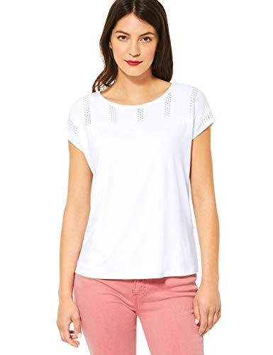 Street One Damen 315015 T-Shirt, White, 38
