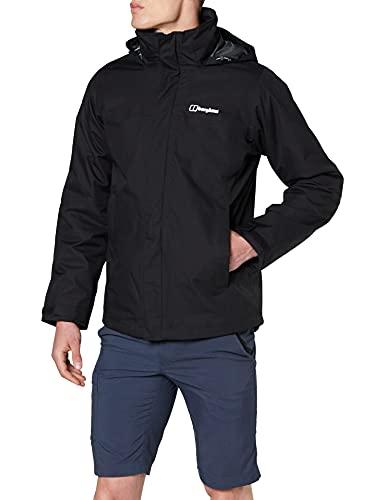 Berghaus Men s RG Alpha 2.0 Gemni 3 in 1 Waterproof Jacket, Black Black, XL