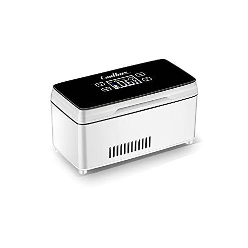 SYTH Enfriador de Insulina Caja Refrigerada Mini Portátil Insulin Reefer Caja Caja de almacenaje de la insulina Pantalla LCD de Carga 0-8 ° C (BateríA Incorporada), 2 Battery (Color : B)