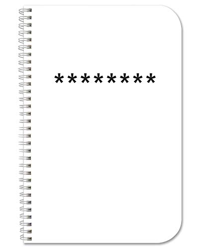 """BookFactory Password Journal/Password Organizer/Password Book/Logbook/Password Keeper, 120 Pages, 3 1/2"""" x 5 1/4"""", Durable Thick Translucent Cover, Wire-O Binding (JOU-120-MCW-A-(Password))"""