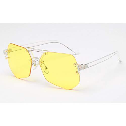 WZYMNTYJ Occhiali da Sole Senza Montatura retrò Donne Designer di Marca Lenti sfumate Occhiali da Sole Vintage da Donna Occhiali da Donna Occhiali da Vista UV400