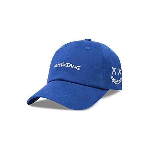 WSMYG Gorra De Béisbol con Bordado De Pareja Gorra con Capota Blanda M (56-58Cm) Azul