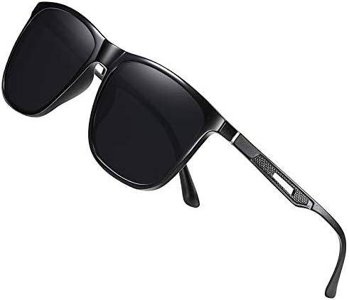 Men s Polarized Sunglasses Retro Square Metal Frame Aluminum Driving Fishing Sun Glasses Glowing product image