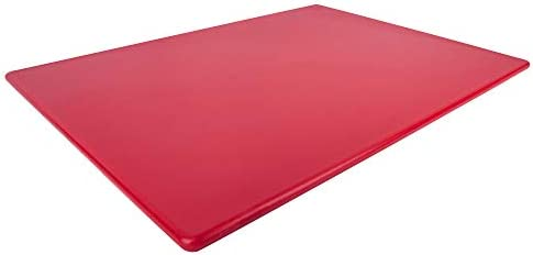 Red Plastic Cutting Board Extra Large 24 x 18 x 0 5 Inch NSF Approved BPA Free product image