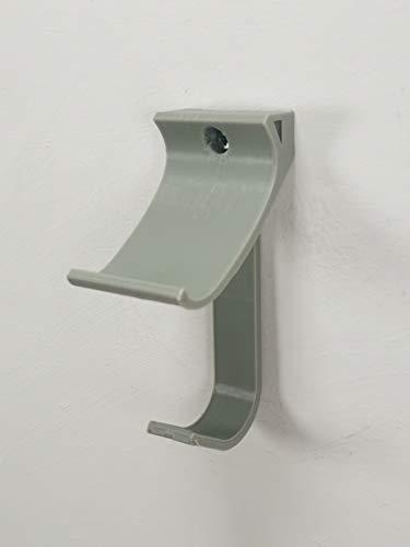 Wandhalterung für Google Stadia Controller, mit Kopfhörer-Halterung, Grau