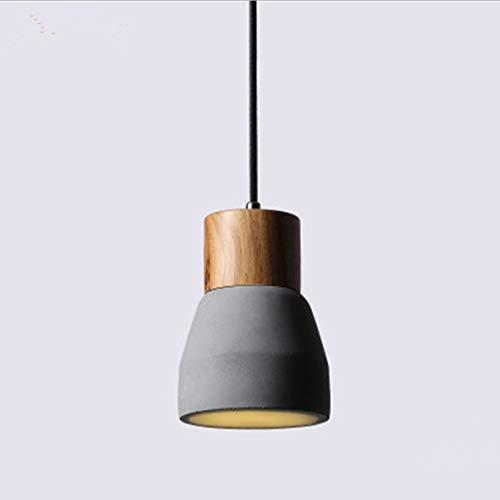 Wlnnes Luz Colgante de Cemento de Roble Loft, luz de Techo de...