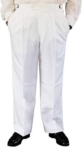 Broadway Tuxmakers Herren Smokinghose, verstellbar, Weiß - Weiß - 44 Lange