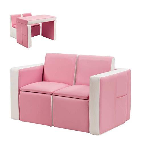 Image of Costzon Kids Sofa, 2 in 1...: Bestviewsreviews