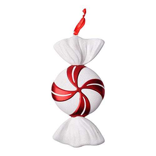 Christmas Lollipop Ornament,4 Styles Candy Christmas Hanging Christmas Tree Ornament,White and Red Christmas Decorations for Home Party,Stripe Candy Lollipop Photo Prop Decorations for Christmas