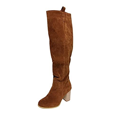 Xiand Stiefeletten Damen Halbstiefel mit Chunkyrayan Comfort Schnallen Glatt Ankle Boots Herbst Winter Stiefel Worker Boots Schneestiefel Stiefelette Knöchel Schuhe Für Frauen