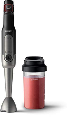 Philips Stabmixer Viva HR2650/90 (800W, SpeedTouch, inkl. 2-in-1 ToGo Trinkflasche & Mixbecher)