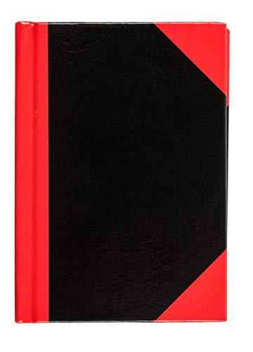 Idena 10098 - Kladde DIN A7, FSC-Mix, 96 Blatt, 70 g/m², kariert, Cover rot-schwarz, 1 Stück