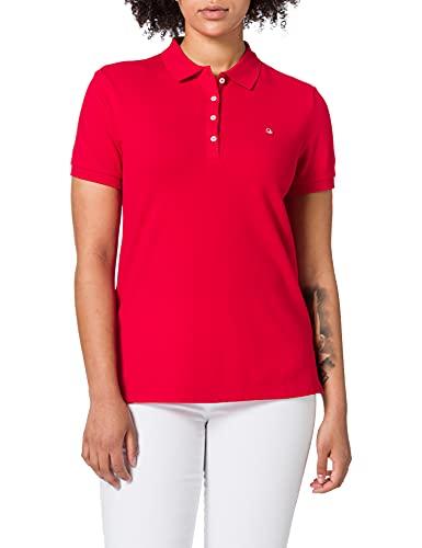 United Colors of Benetton (Z6ERJ Maglia Polo M/M 3WG9E3173 Camisa, Rojo 015, XL para Mujer