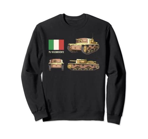 Tanque italiano autopropulsado 75/18 Bandera Italiana Sudadera