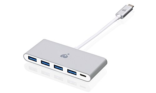 IOGEAR USB-C to 4 Port USB-A Hub with Power Delivery Pass-Thru, GUH3C4PD