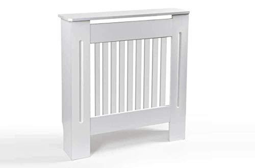 Copritermosifone in legno bianco 78 * 19 * 82 cm copertura per radiatore ISY-781056