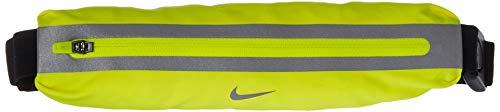 Nike Erwachsene Slim Hüfttasche, Volt/Black/Silver, 25x5x3 cm