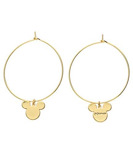 SIX Pendientes de aro con diseño de Mickey Mouse para mujer (647-419)