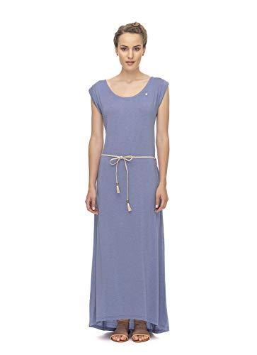 Ragwear Tag Long Damen,Kleid,Sommerkleid,Jerseykleid,lang,ärmellos,vegan,Rundhalsausschnitt,Taillengürtel,Lavender,XL