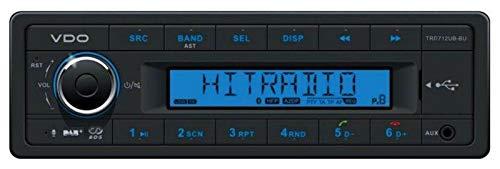 VDO TRD712UB-BU - MP3-Autoradio mit DAB/Bluetooth/USB/AUX-IN
