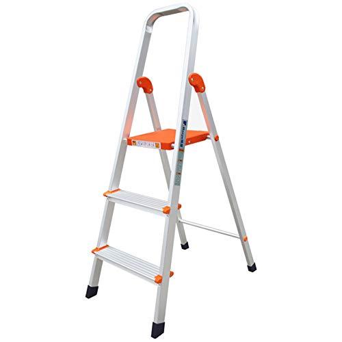 Escaleras Plegables Taburete de Aluminio para Adultos, Escalera Plegable con Empuñadura/Pedal Ancho Antideslizante, Escaleras de Mano para el Hogar y la Oficina, Soporta 100 Kg (Size : 4-tier)