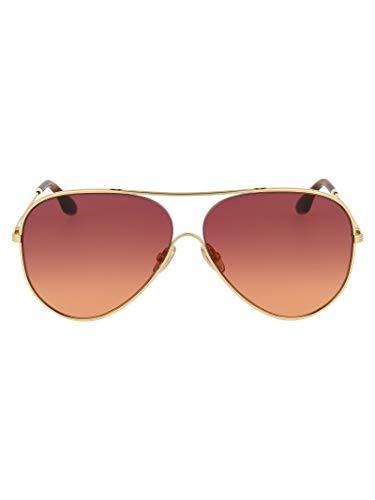 Victoria Beckham Luxury Fashion Damen VB133S711 Gold Metall Sonnenbrille | Jahreszeit Permanent