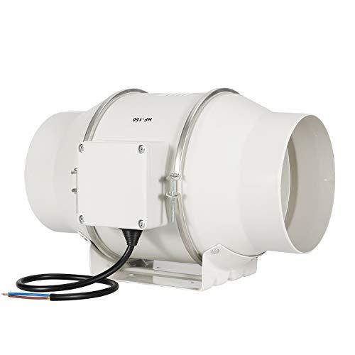 Ventilador de escape, HG Power 100mm Ventilador Extractor de Aire en Línea con Motor de Dos-velocidades para Oficina, Hotel, Baño - 530m³/h Ventilación (150mm) …