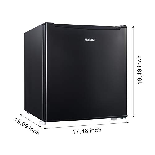 Supernon Galanz 1.7 cu ft Compact Refrigerator, Black