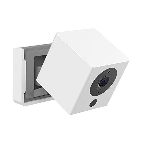 BECROWMEU - Soporte de pared para cámara inteligente WyzeCam 1080p Neos SmartCam y iSmartAlarm Spot Soporte de cámara blanco