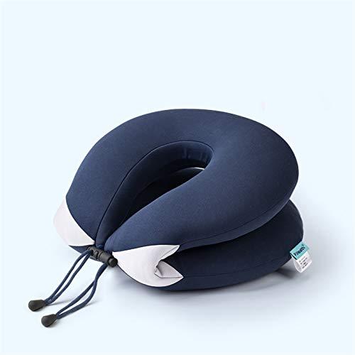 47-B Almohada En Forma De U, Almohada De Cuello, Almohada del Cuello del Cuidado De Oficina, Memoria Portátil De Viaje De Algodón Almohada Cervical Almohada Regalo (Color : Blue)