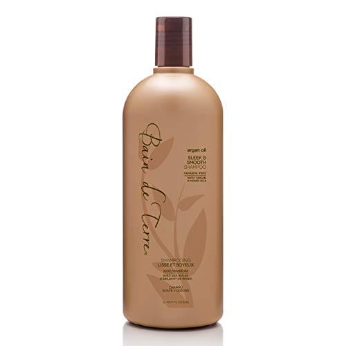 Bain de Terre, Argan Oil Sleek and Smooth Shampoo with Argan and Monoi Oil ParabenFree Ounce, 33.8 Fl Oz (U-HC-9312)