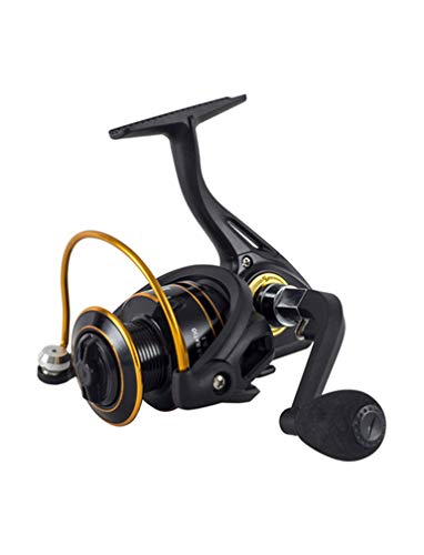 LLJPYX7L The Best Fishing Reel, Salt Water and Fresh Water can be Used, 10BB Durable Bearing 4.7:1 Gear Ratio, Left/Right Interchangeable Handle, Suitable for Beginners (Size : 6000)