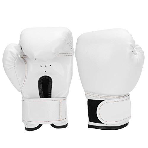 VGEBY1 Guantes de Boxeo, Cuero de PU Guantes de Boxeo para niños Guantes de Saco de Arena para Boxeo Niños Boxeo Lucha Sparring Punching(Blanco)