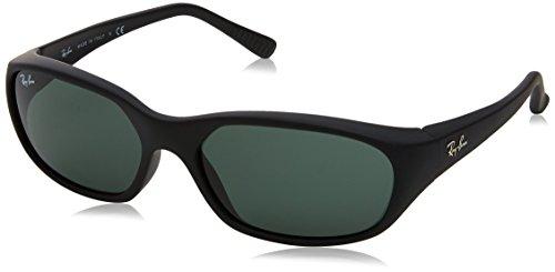 Ray-Ban 0RB2016 W2578 59 Gafas de sol, Matte Black/Crystal Green, Hombre