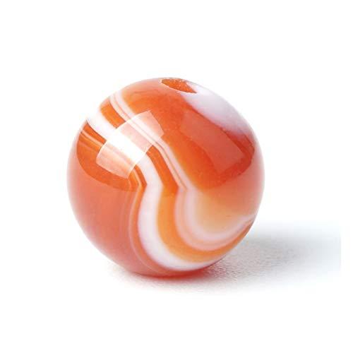 HETHYAN Cuentas de ágata de rayas rojas naturales de cornalina con piedra de ónix sueltas de 15 pulgadas para hacer joyas de piedra natal (tamaño: 8 mm, 47 unidades)