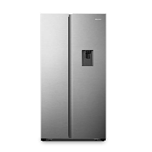 Hisense 566 L Frost-Free Side-By-Side Refrigerator with Water Dispenser (RS670N4ASN, Stainless steel)