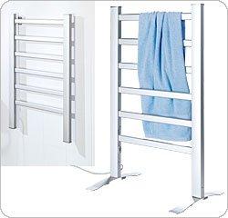 BETEC 4030 Elektrischer Handtuchhalter & Handtuchwärmer Wäscheständer Handtuchheizung Wandmontage oder freistehend 6 Heizrippen ALU