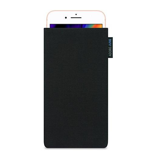 Adore June Classic Negro Funda para Apple iPhone 8 Plus, Material Resistente Efecto Limpiador de Pantalla, Negro