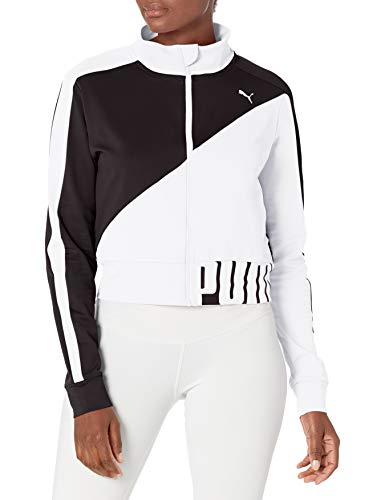 PUMA Damen ULTRA RUNNING JACKET Jacke zum Aufwärmen, Black Weiß, X-Large