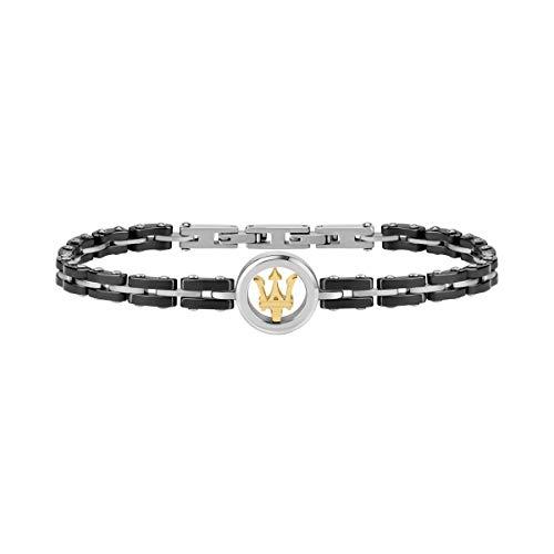 Herrenarmband, Maserati Jewels Kollektion, aus edelstahl und keramisch - JM219AQH12