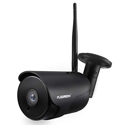 FLOUREON YI IOT Cámara de Vigilancia Exterior, IP WiFi Cámara de Seguridad 1080P, Audio Bidireccional, Detección de Movimiento, Almacenamiento en la Nube, Impermeable IP66, Compatible con Alexa