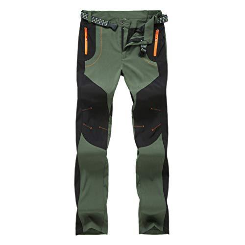 Solike Pantalons de Travail Pantalon Cargo Homme Femme Résistant à l'abrasion Genouillères avec Poches - Épaisse et Mince - pour Toute la Saison (Large, Vert(Femme/Mince))