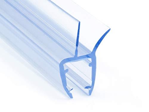 DQ-PP Duschdichtung 80cm | Dichtung für 6mm – 8mm Glastür Stärke | UK03 | Wasserablaufprofil Wasserabweisprofil | Duschkabinen Duschabdichtung Duschwand | Ersatzteile für Duschkabine | Transparent