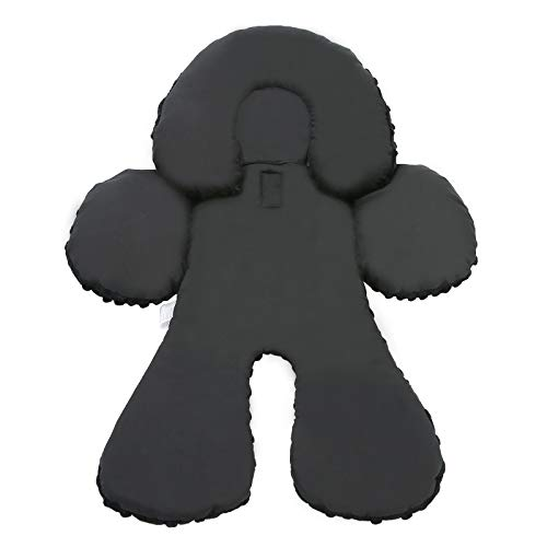 Pro Goleem Infant Car Seat Head Neck Body Support Ultra-Soft Minky and Microfiber Newborn Car Seat Insert Cushion, Perfect for Car Seat, Stroller, 2-in-1 Reversible, for Boys and Girls, Black
