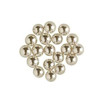 O'Creme Silver Dragees Cake Decorating Supplies for Bakers: Cookie, Cupcake & Icing Toppings, Bright Metallic Sphere Sprinkles Decoration, Certified, Decorating Sugar Ball Accents (8mm, 8 oz)