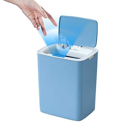 GOLDCHAMP Sensor Mülleimer, Mülleimer Küche mit Automatischer Sensor Mülleimer Elektrisch mit Deckel Für Küche, Schlafzimmer, Badezimmer,Büro 14L (Blau)
