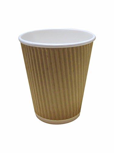 Braune Kaffeebecher aus Wellpappe, dreiwandig, 227 - 454 ml, 50 Stück, braun, 10oz (284ml)