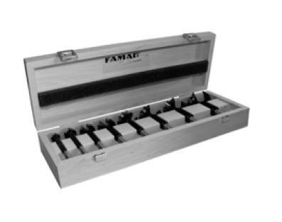 FAMAG Bormax 2.0 WS-Forstnerbohrersatz 8-teilig D=15,20,25,30,35,40,45,50mm im Holzkasten